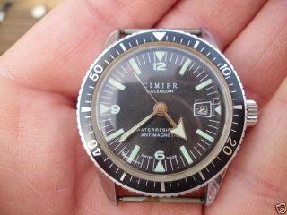 Alte Große Armbanduhr Diver Taucheruhr Cimier Kalendar - Mechanisch Swiss Made Bild
