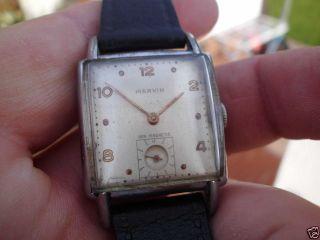 Alte Armbanduhr Marvin - Mechanisch Mit Sekunde Bei Der 6 - Swiss Made Bild