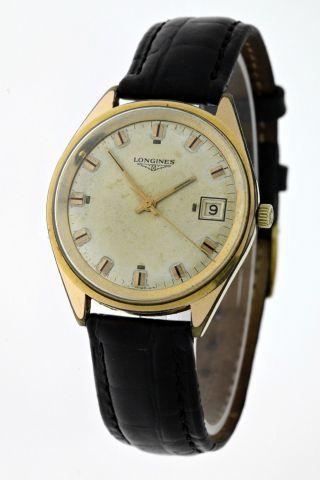 Vintage Longines Herren Armbanduhr Gold Handaufzug Kal.  285 Siebziger Jahre Box Bild