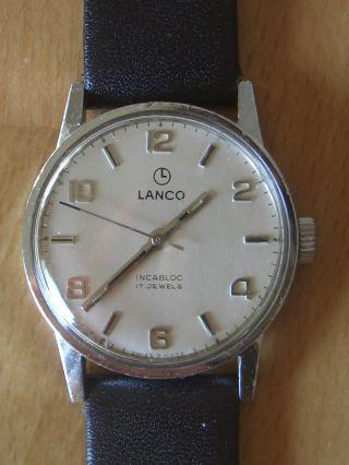 Lanco Herren Armbanduhr Stahlgehäuse,  Weißes Zifferblatt,  Werk Lanco 1003n Top Bild