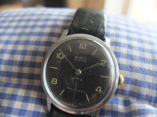 50er Bwc Herrenuhr Mit Wehrmachtswerk As 1130 Bild