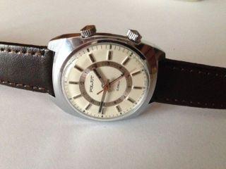 SchÖne Poljot Herrenarmbanduhr Handaufzug - Wecker Um 1970 Bild