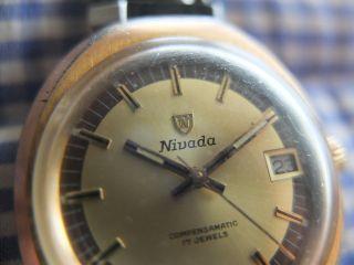 70er Nivada Herrenuhr Handaufzug Bild