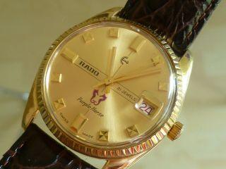 Rado Purple Horse Handaufzug Herrenuhr Armbanduhr Hau Vintage 60er 70er Bild