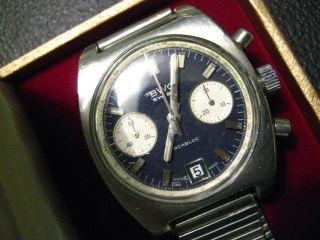 Bwc Chronograph Armbanduhr Handaufzug Für Herren 80 Iger Jahre Bild