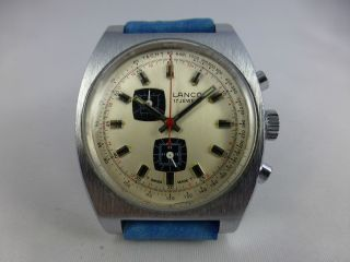 Lanco Eb 8420 Handaufzug,  Chronograph,  Chrom,  Vintage 1984 - 99 Bild