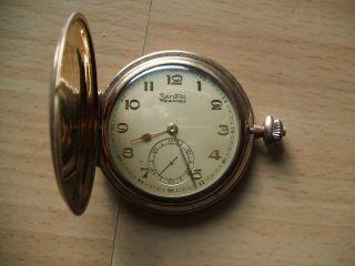 Nachlass Dachbodenfund Opas Sammlung Alte Zentra Taschenuhr 585 Gestempelt Bild