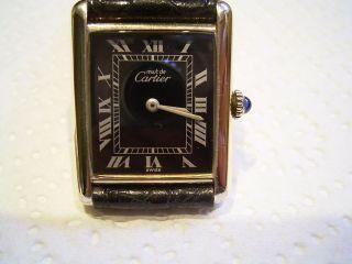 Damenuhr Cartier Tank Silber 0,  925 Solo Agent Werk Meachanisch Bild
