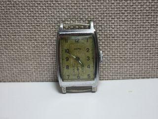 Berg - Rechteckige Armbanduhr Mit Urofa 58 Uhrwerk.  Men ' S Wrist Watch Bild