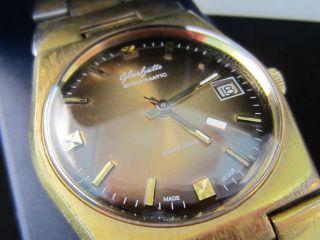 Glashütte Herrenuhr Armband Uhr Kaliber 75.  2 Mit Garantiebelg & Box Bild