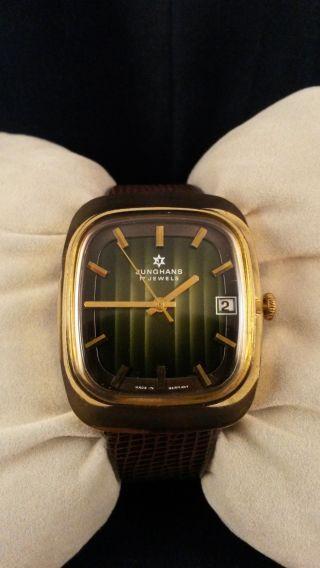 Seltene Junghans Armbanduhr M.  Sehr Schönes Zifferblatt Neues Armband Wristwatch Bild