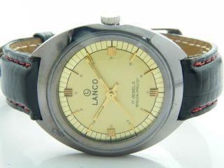 Lanco Schweizer Werk Armbanduhr Handaufzug Mechanisch Vintage Sammleruhr Bild