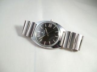 Vintage Junghans Handaufzug Uhr Date - Stahl 1970´ger Jahre - Läuft Bild