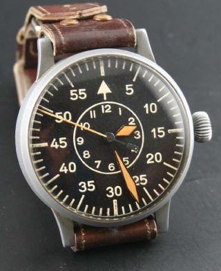Laco (wempe) Military Flieger/beobachtungs/militär - Uhr Wk Ii Vintage Bild