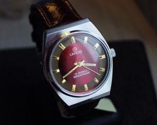 Lanco Swiss Armbanduhr Handaufzug Mechanisch Vintage Sammleruhr Bild