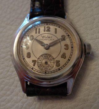 Sammlerstück Frühe Armbanduhr Wyler (50er Jahre) Massi Silber Sehr Selten Bild