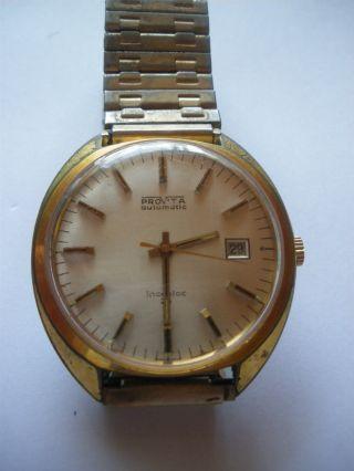 Provita Mechanische Incabloc 25 Rubis Automatic Vintage Herren Uhr 70er Jahre Bild