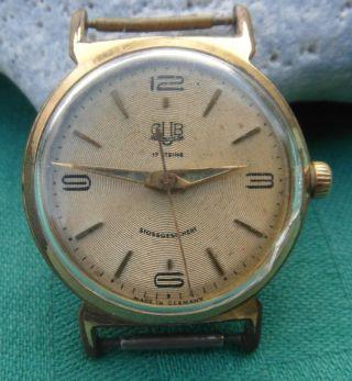 Klassische Uhr Gub Glashütte Sachsen 17 Steine Vintage Um 1955 - 60 Gdr Bild