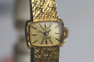 Roxy Anker Mechanische Damenarmbanduhr 585er Gg - Gehäuse,  585er Gg - Armband Top Bild