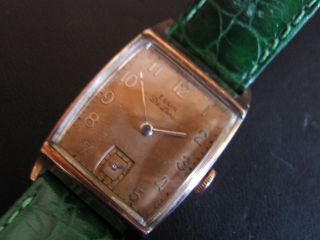 Elgin De Luxe,  Armbanduhr,  Rotvergoldet - Goldfilled,  Artdeco Bild