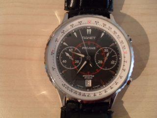 Poljot Ruslan 0528 Russian Aviator ' S Watch Russische Uhr Fliegeruhr Bild