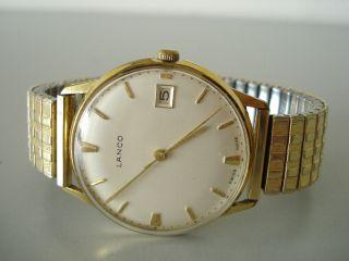 Lanco Vintage Swiss Made Hau.  Handaufzug Datum Vergoldete Werk 1103/04 Um1960 Bild