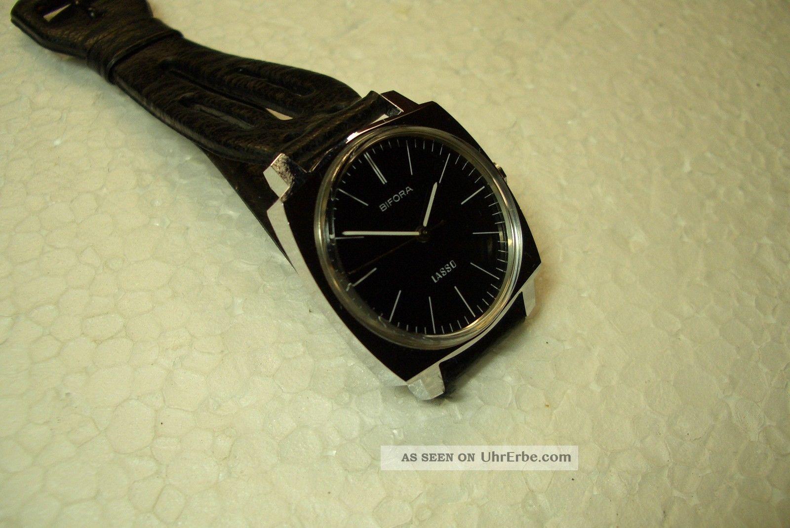 Bifora Nos Alte Herren Armbanduhr 70 ' Er J.  Kal.  B 91/1 Sehr Guter Gebr Zust. Armbanduhren Bild