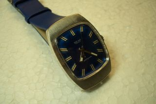 Beha Alte Herren Armbanduhr Blau 60/70 ' Er J.  Kal.  Otero 840 Selten Bild