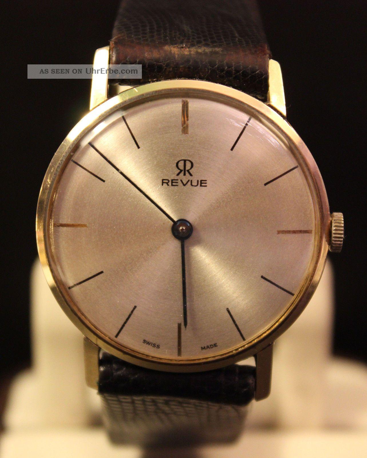 Revue Thommen Herren Uhr Handaufzug Armbanduhren Bild