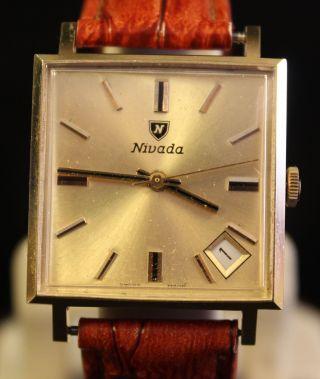 Nivada Handaufzug 21 Jewels Herren Uhr Bild