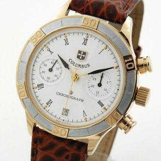 Poljot Columbus Chronograph Herren Armbanduhr Handaufzug Russia Watch Bild