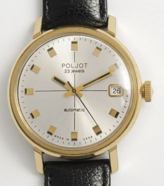 Poljot Automatic Klassische Soviet Armbanduhr.  Made In Ussr Vintage Dress Watch. Bild
