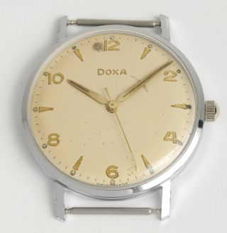 Doxa High Precision Schweizer Armbanduhr.  Swiss Made Vintage Dress Watch 1959. Bild