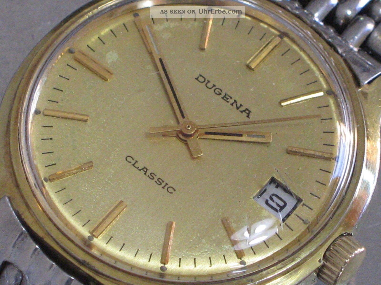 Dugena Classic Mech.  Herren - Armbanduhr Datum Kal.  2116 Läuft Armbanduhren Bild
