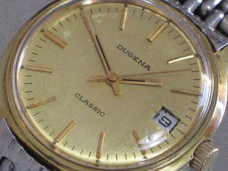 Dugena Classic Mech.  Herren - Armbanduhr Datum Kal.  2116 Läuft Bild
