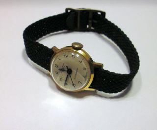 Alte Kienzle 074/30 Damenuhr Uhr Dau 7 Jewels M.  Altem Textilband - Ansehen Bild