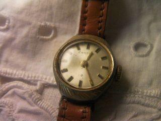 Zentra Armbanduhr Edelstahl / Gold Doublee 1960er Bild