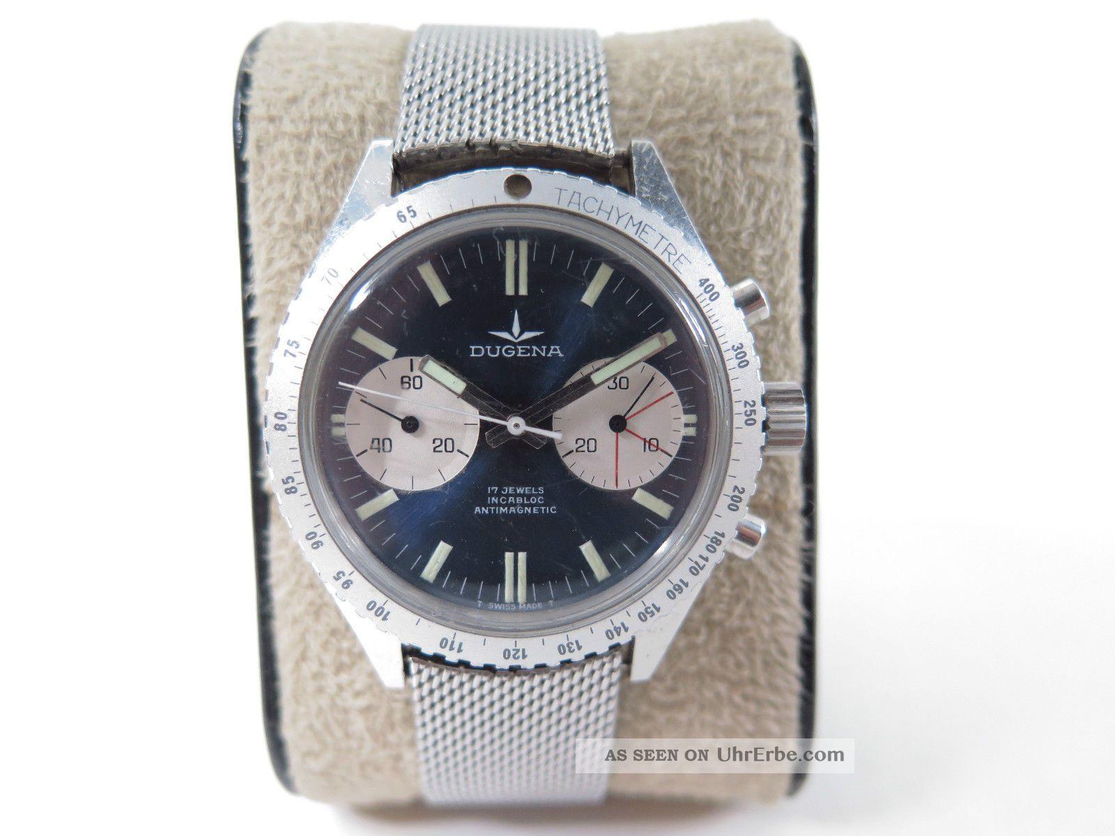 Dugena Chronograph Mit Valjoux 7733 Uhrwerk - Armbanduhr Armbanduhren Bild
