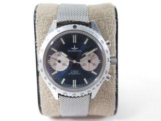 Dugena Chronograph Mit Valjoux 7733 Uhrwerk - Armbanduhr Bild