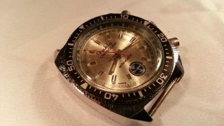 Vintage Ruhla Taucheruhr Chronograph Diver Made In Ddr Fuer Bastler Bild