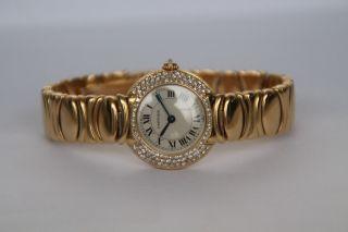 Cartier Damen Uhr 18k Gelbgold Brillanten 3 Reihen Uvp 25.  000€ / Besatz Bild