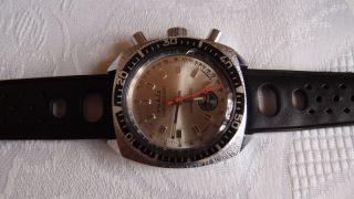 Schöner Ruhla Chronograph,  Chronograf,  Made In Germany,  Glas Mit Sprung,  Bastlerware Bild