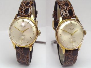 Kienzle Vintage Dress Watch Herrenuhr Mit Neuem Kroko Lederband Bild