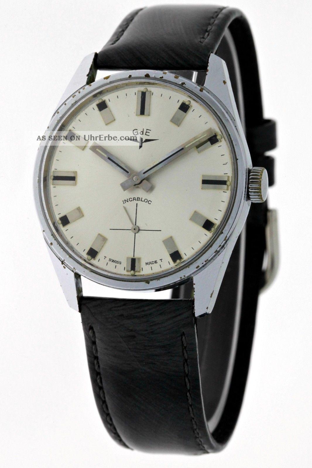 Sammleruhr Gde 50 Jahre JubilÄumsuhr Eisenbahner Gewerkschaft Vintage Herren Armbanduhren Bild