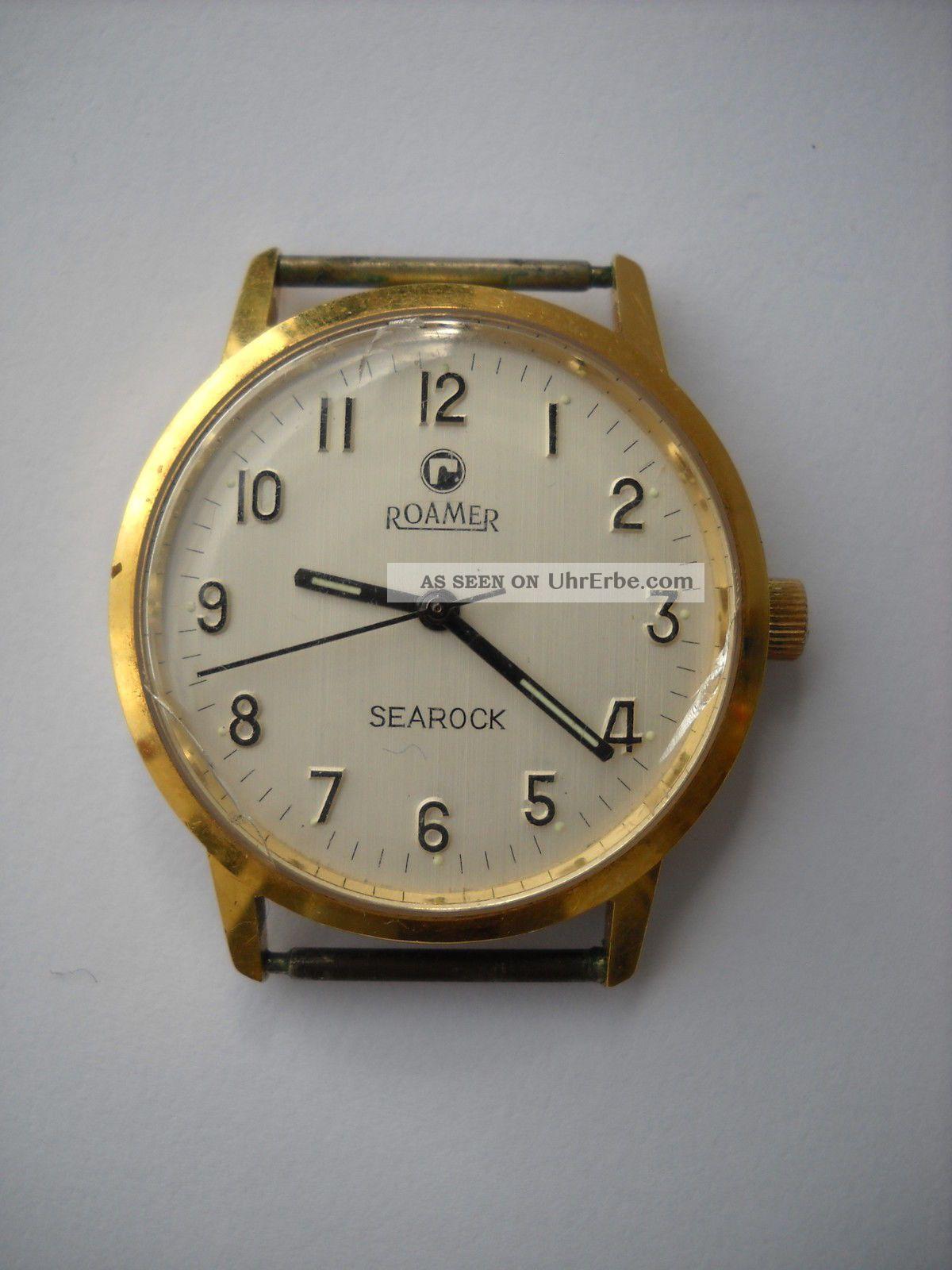 Roamer Searock,  Armbanduhr,  Handaufzug,  Vergoldet,  Kaliber 43/mst 521,  Sammleruhr Armbanduhren Bild