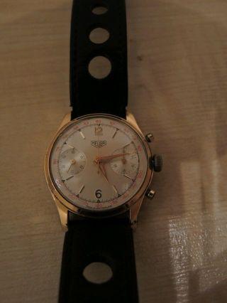 Heuer Chronograph Aus Der 60ern Mit Valjoux 23 Kaliber Bild