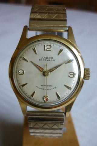 Herrenuhr Anker 21 Jewels Duro - Swing Uhr Armbanduhr Handaufzug Bild
