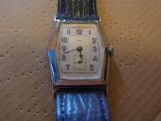 Frühe Grosse Herrenuhr Schweiz Ca1930 - Unberührt,  Läuft Perfekt Überholt Silber Bild