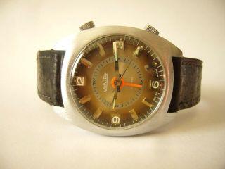 Mentor Alarm Swiss Made 60/70er Jahre Für Den Uhrensammler Mit Sinn Bild