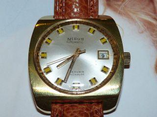 Nisus Swiss Automatic Date Sehr Gut Erhalten Bild